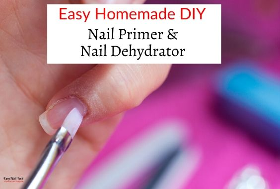 A Homemade DIY Substitute For a Nail Primer & Dehydrator